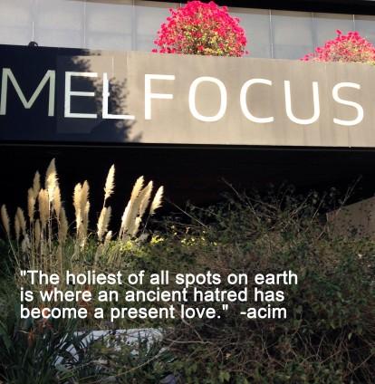 Mel Focus holiest spot on earth ancient hatred present love #LoveLand101