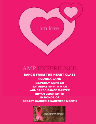 Lorna Jane Beverly Center Dance from the Heart Class AMP EXPERIENCE