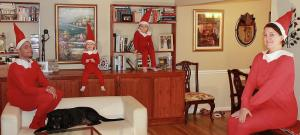 ON the Ninth Day of Mels Love Land -First Rule of Elf on the Shelf Club  - you do not talk about Elf on the Shelf Club