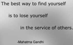 Gandhi lose yourself in service