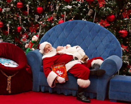 Twelfth Day of Mels Love Land Sleeping Santa Mels Love Land