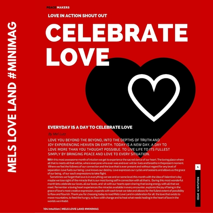 Celebrate Love – Mels Love Land #MiniMag Intuition Issue 4