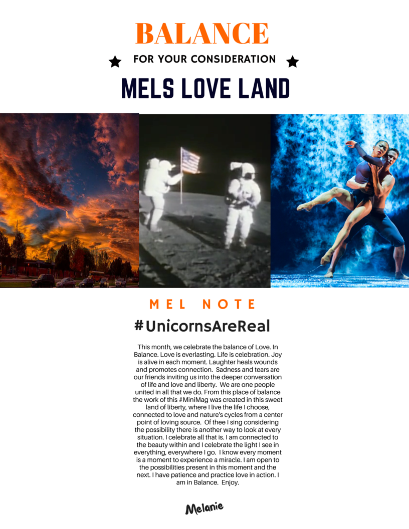 2-Mels Love Land Issue 6 | Balance-Melanie Lutz