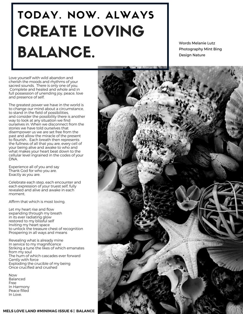 6-Mels Love Land Issue 6 | Balance-Melanie Lutz