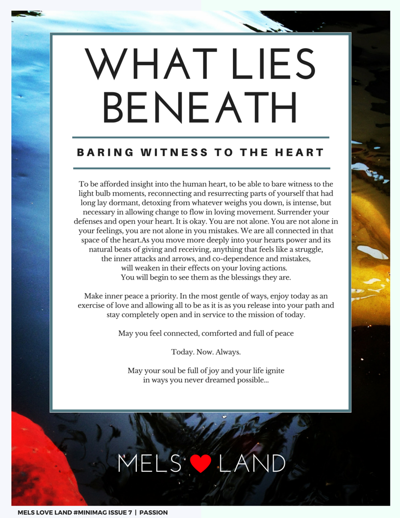 9 Melanie Lutz MELS LOVE LAND ISSUE 7   PASSION Baring What LIes Beneath Witness to the Heart