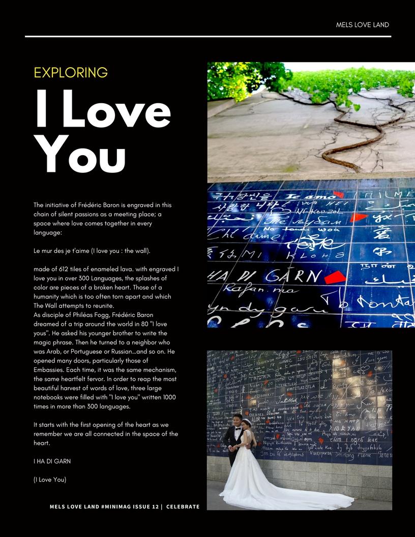 14 Mels Love Land MiniMag Issue 12 | Celebration