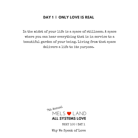 18 7th Annual Mels Love Land Next100 1.3 beginnings
